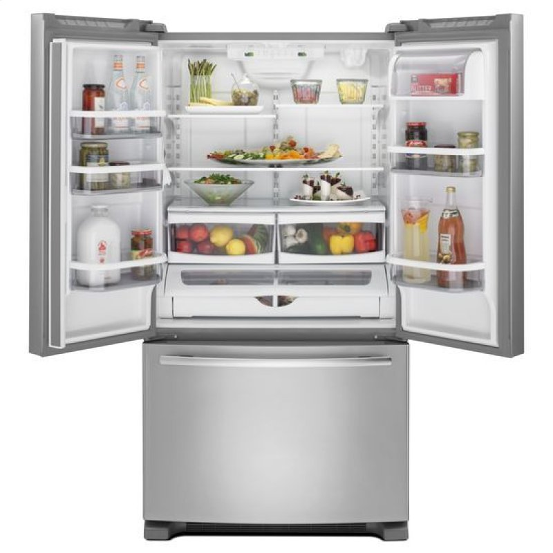 69 Counter Depth French Door Refrigerator With Internal Water Ice Dispensers