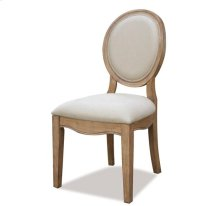 Sherborne Oval Back Upholstered Side Chair Toasted Pecan finish