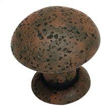 Olde World Knob 1 3/8 Inch - Rust