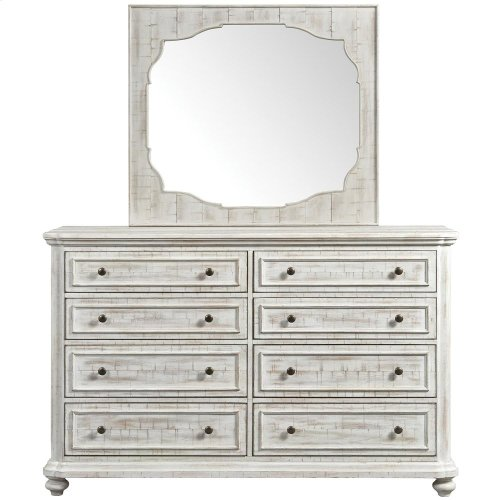 Madison - Landscape Mirror - Rustic White Finish