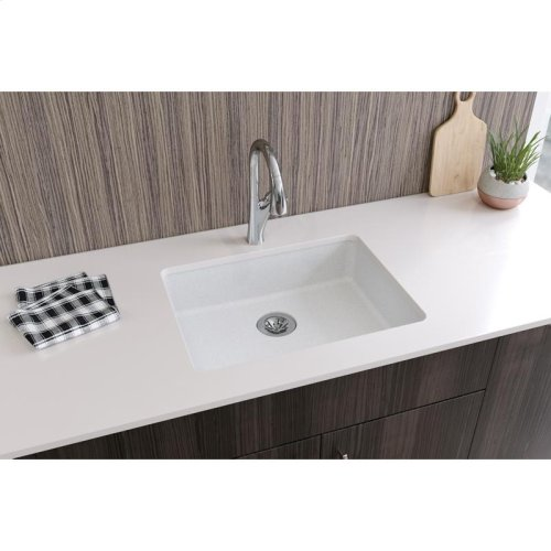 "Elkay Quartz Classic 25"" x 18-1/2"" x 5-1/2"", Undermount ADA Sink with Perfect Drain, White"