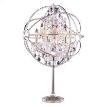1130 Geneva Collection Table Lamp Polished Nickel Finish