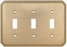 Triple Beaded Switchplate