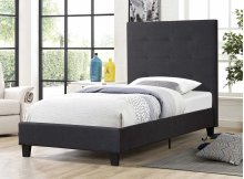 7566 Gray Twin Bed