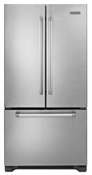 Stainless w. Commercial Handle KitchenAid® 22® Cu. Ft. Counter-Depth French Door Refrigerator, Pro Line Series Product Image