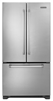 Stainless w. Commercial Handle KitchenAid® 22® Cu. Ft. Counter-Depth French Door Refrigerator, Pro Line Series