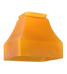 """5""""Sq Bungalow Frosted Amber Shade"""