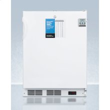 """ADA Compliant 24"""" Wide All-freezer for Freestanding Use, Manual Defrost With A Nist Calibrated Thermometer, Lock, and -25 c Capability"""