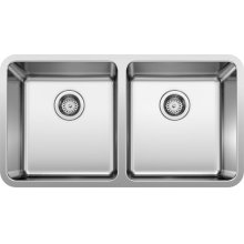Formera Equal Double Bowl - Stainless Steel