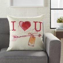 """Home for the Holiday L9013 Multicolor 18"""" X 18"""" Throw Pillows"""