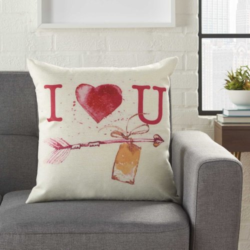 "Home for the Holiday L9013 Multicolor 18"" X 18"" Throw Pillows"