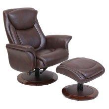 MacKenzie 15-8033 Pedestal Chair and Ottoman