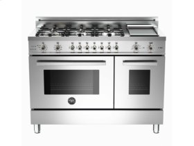 Stainless 48 6-Burner, Electric Double Oven