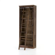 With Ladder Size Brown Umber Pine Finish Ivy Bookcase