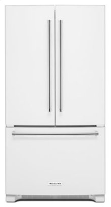 25 Cu. Ft. 36-Width Standard Depth French Door Refrigerator with Interior Dispense - White