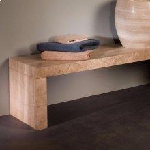 Siena Banco Shower Bench 60 Inch / Siena Silver Gray Marble