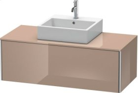 Vanity Unit For Console Wall-mounted, Cappuccino High Gloss Lacquer