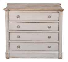 Petit Cabinet W/Drawers,Soft White/Grey