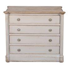 Petit Cabinet W/Drawers,Soft White/Grey