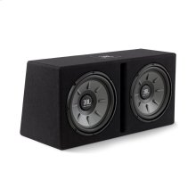 """Stage 1220B subwoofer enclosure Dual 12"""" Stage subwoofers mounted in a slot-ported enclosure"""