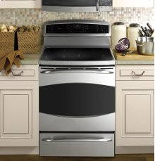 "GE Profile 30"" Free-Standing Induction Range with Warming Drawer"