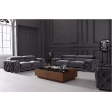 Divani Casa Trisha Modern Grey Fabric Sofa Set