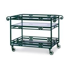 Augustine Metal Bar Cart W/ Tempered Glass
