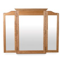 Crown Tri-View Dresser Mirror, Large