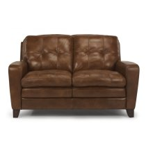 South Street Leather Loveseat