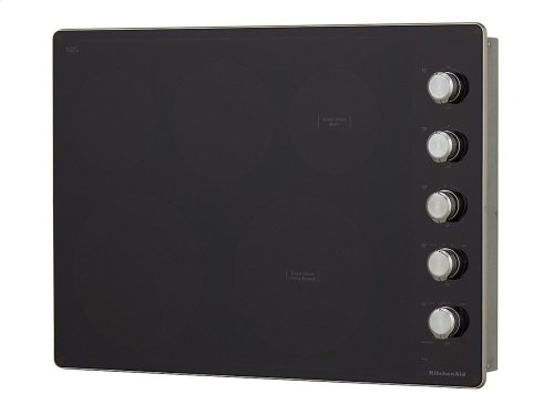 """30"""" Electric Cooktop with 5 Elements and Knob Controls - Stainless Steel"""