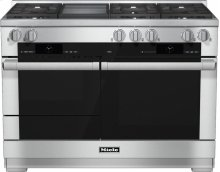 HR 1956 G 48 inch range Dual Fuel with M Touch controls, Moisture Plus and M Pro dual stacked burners