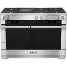 HR 1956 G 48 inch range Dual Fuel with M Touch controls, Moisture Plus and M Pro dual stacked burners***FLOOR MODEL CLOSEOUT PRICING***