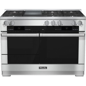 MieleHR 1956-2 LP 48 inch range Dual Fuel with M Touch controls, Moisture Plus and M Pro dual stacked burners