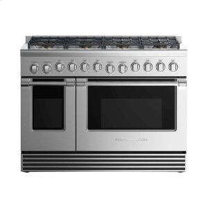 "Fisher & PaykelDual Fuel Range 48"", 8 Burners"