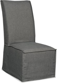 Zuma Charcoal Armless Dining Chair