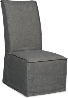 Zuma Charcoal Armless Dining Chair