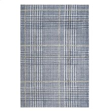 Kaja Abstract Plaid 8x10 Area Rug in Ivory, Cadet Blue and Citron