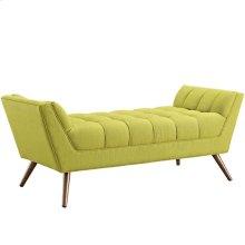 Response Medium Upholstered Fabric Bench in Wheatgrass