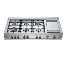 48 Rangetop 6 Burners and Griddle Stainless