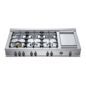 Bertazzoni48 Rangetop 6 Burners and Griddle Stainless