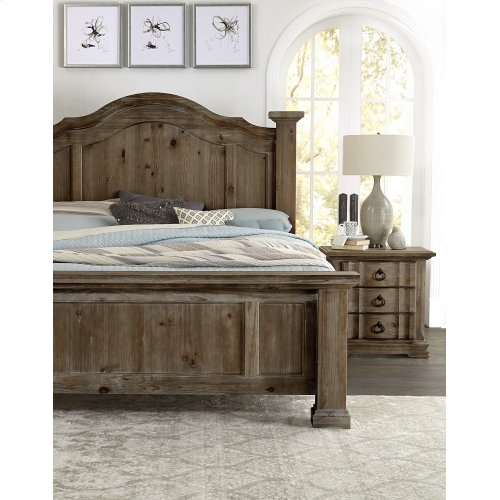 VAUGHAN BASSETT 682-669KBDMCG 4-Piece Rustic Hills Group King Poster Bed, Dresser, Mirror & Chest