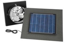 Gable Mount, Solar Powered Attic Ventilator in Weathered Wood