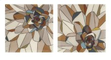 Stained Glass Floral Acrylic Floating Wall Art - Ast 2