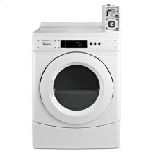 """Whirlpool® 27"""" Commercial Gas Dryer with with Factory-Installed Coin Slide and Coin Box - White"""