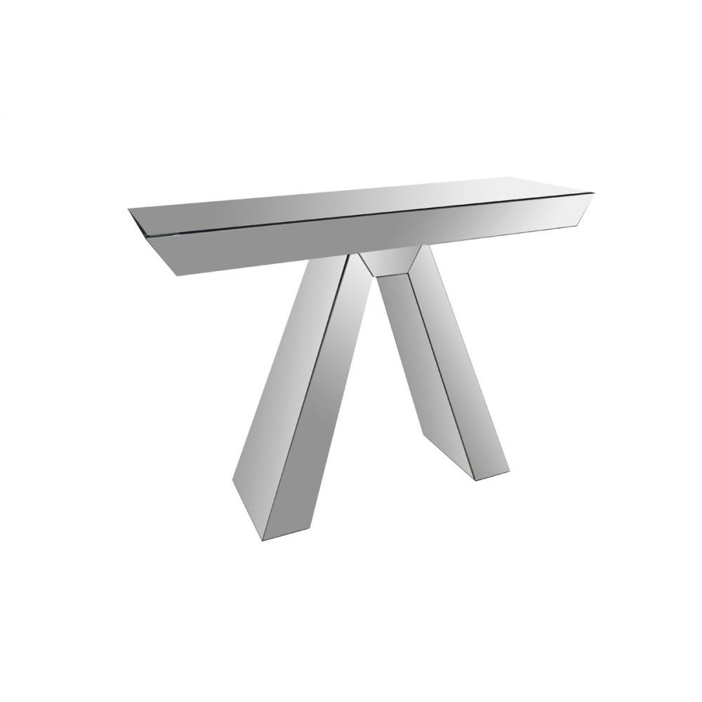 Modrest Fosse Modern Mirrored Console Table