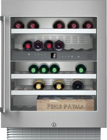 "200 series Wine climate cabinet Under-counter, stainless steel-framed glass door Width 23 5/8"" (60 cm)"