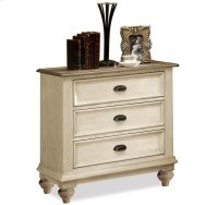 Coventry Three Drawer Nightstand Weathered Driftwood/Dover White finish Product Image