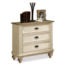 Coventry Three Drawer Nightstand Weathered Driftwood/Dover White finish