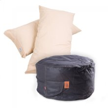 Pillow Pod Footstools - Faux Leather - Black