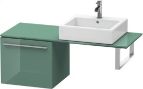 Low Cabinet For Console, Jade High Gloss Lacquer